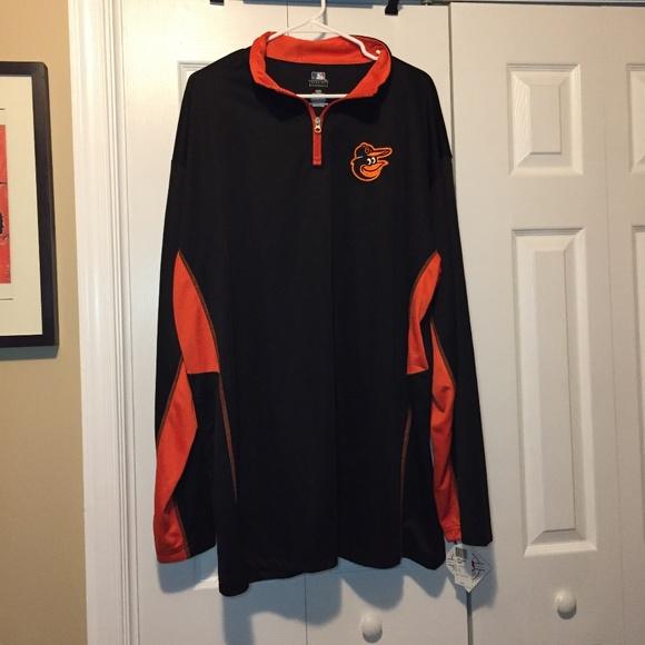 e84e54c9c88 MLB Baltimore Orioles Baseball 1 4 Zip Shirt XXL T